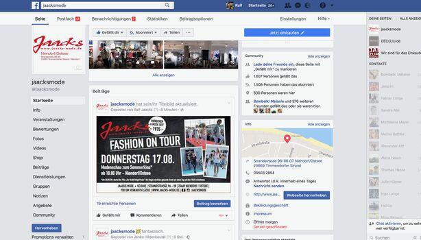 Jaacks Fashion GmbH in Timmendorfer Strand, Strandstraße