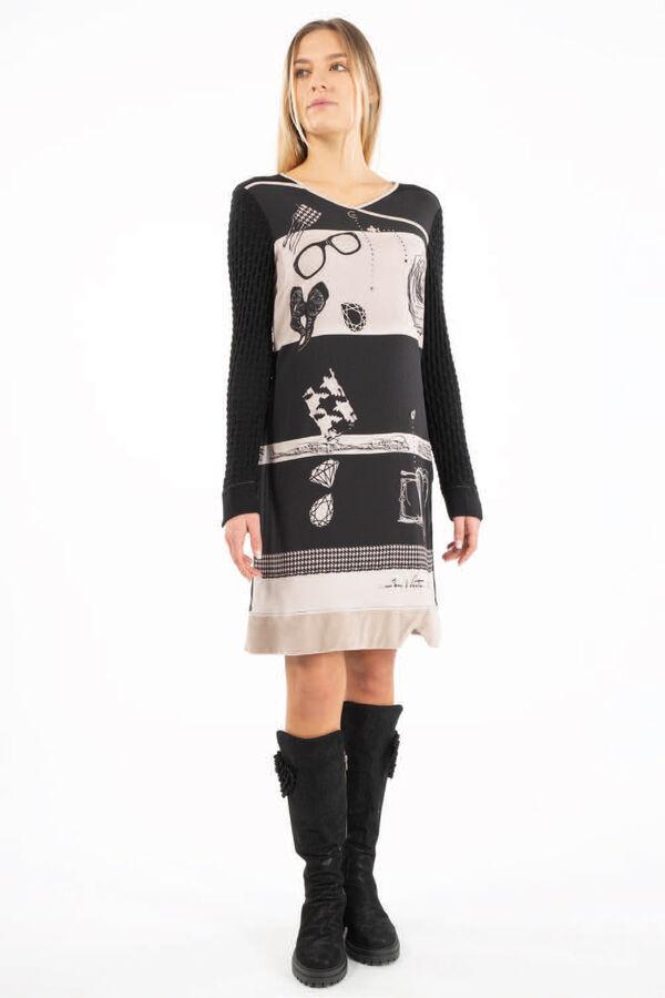 Stoff Kleid