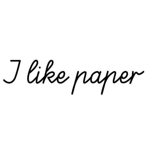 I like paper Logo