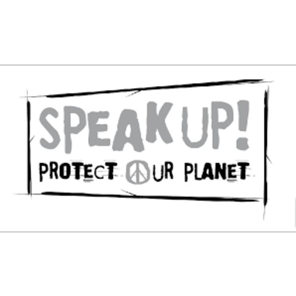 SPEAK UP! protect our planet Logo