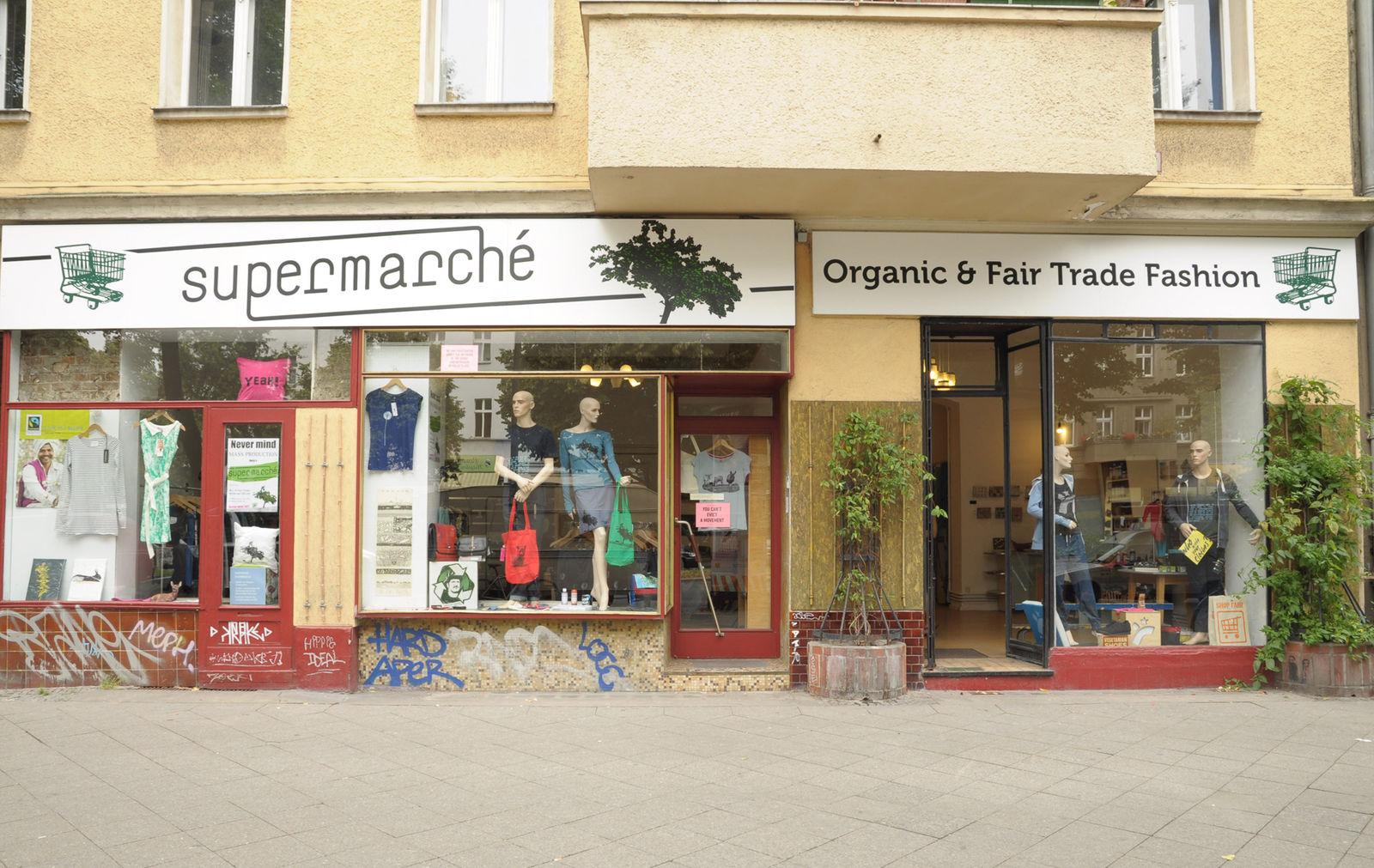 supermarch organic fair trade fashion green fair trade fashion in berlin wiener stra e. Black Bedroom Furniture Sets. Home Design Ideas