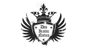 D.I.N. Dis Iratis Natus Logo