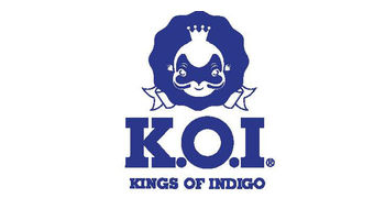 K.O.I. KINGS OF INDIGO Logo