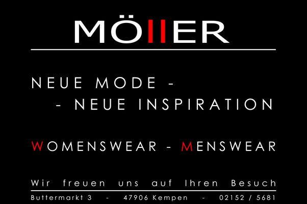 MÖllER Womenswear - Menswear