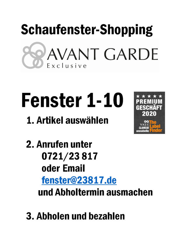 call@collect bei Avant Garde Exclusive