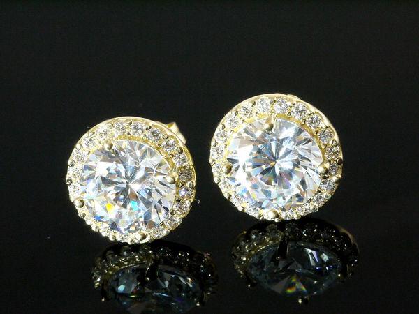 585 Gold Ohrstecker mit Zirkonia Steinen