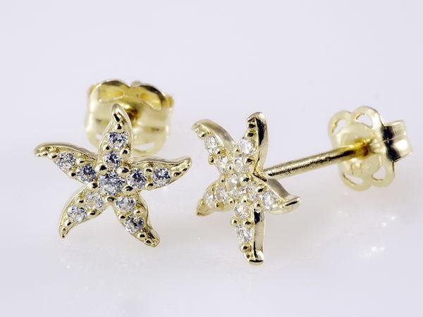 Starfish Seestern mit Zirkonia