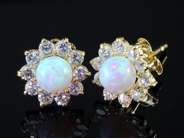 14 Karat Opal Gold Ohrschmuck