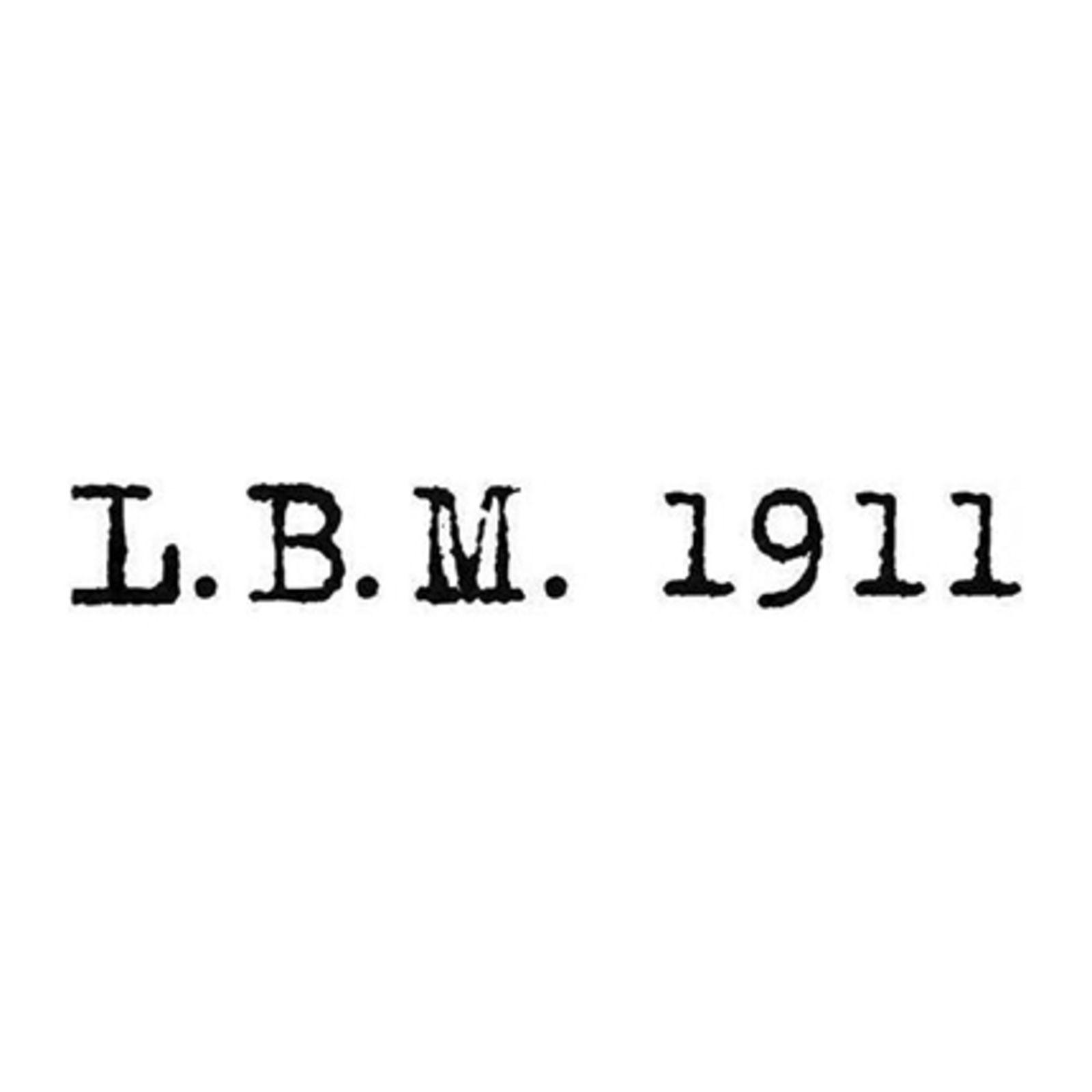 L.B.M 1911